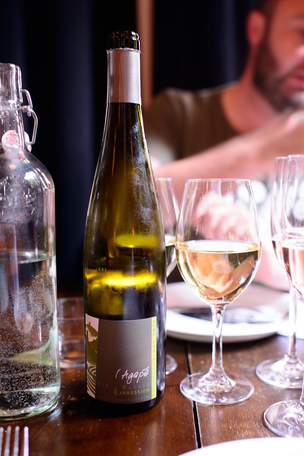 l'Agape, Vin d'Alsaces, Expression