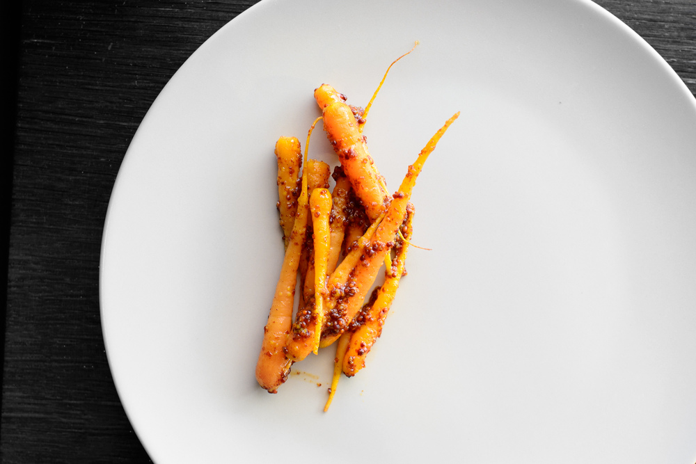 2nd Course: Small carrots, mustard seeds