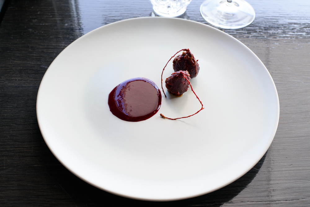 8th Course: Small beets, chilmole, black currant