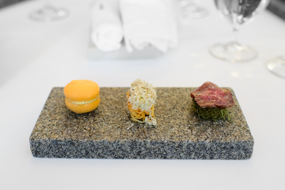 1st Course: Beef from A. Larsson, lichens, and ash, carrot and f