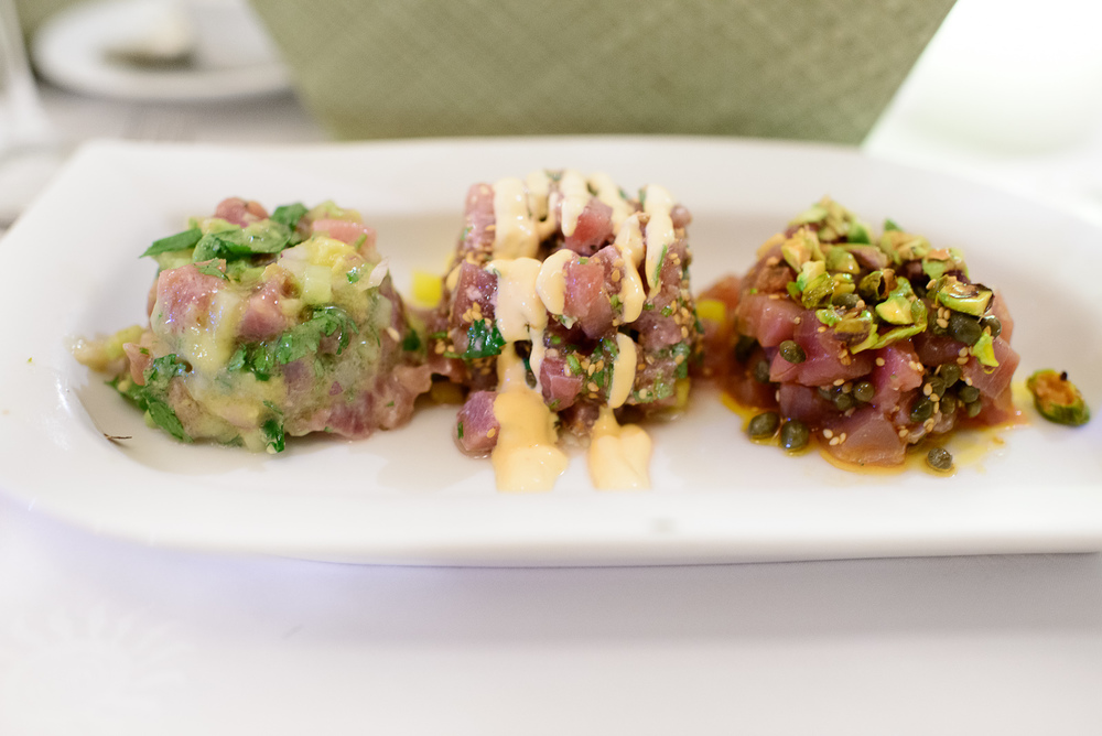 Tuna tartar three ways