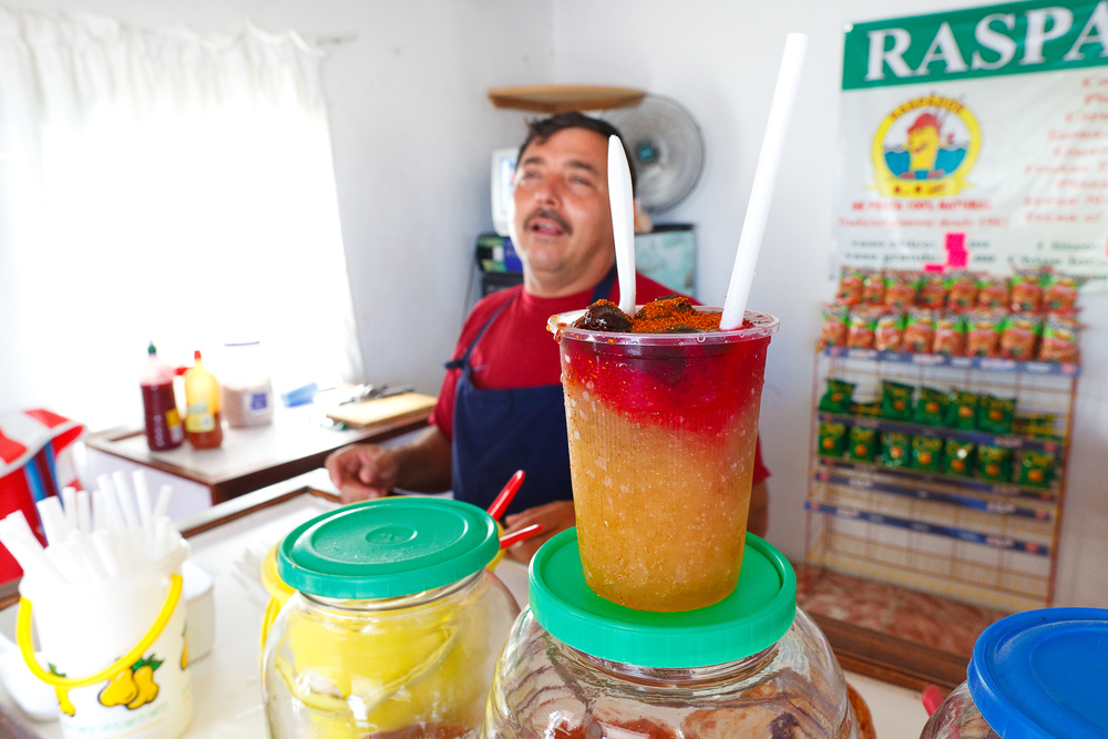 Step 5: A colorful work of summer art: raspados