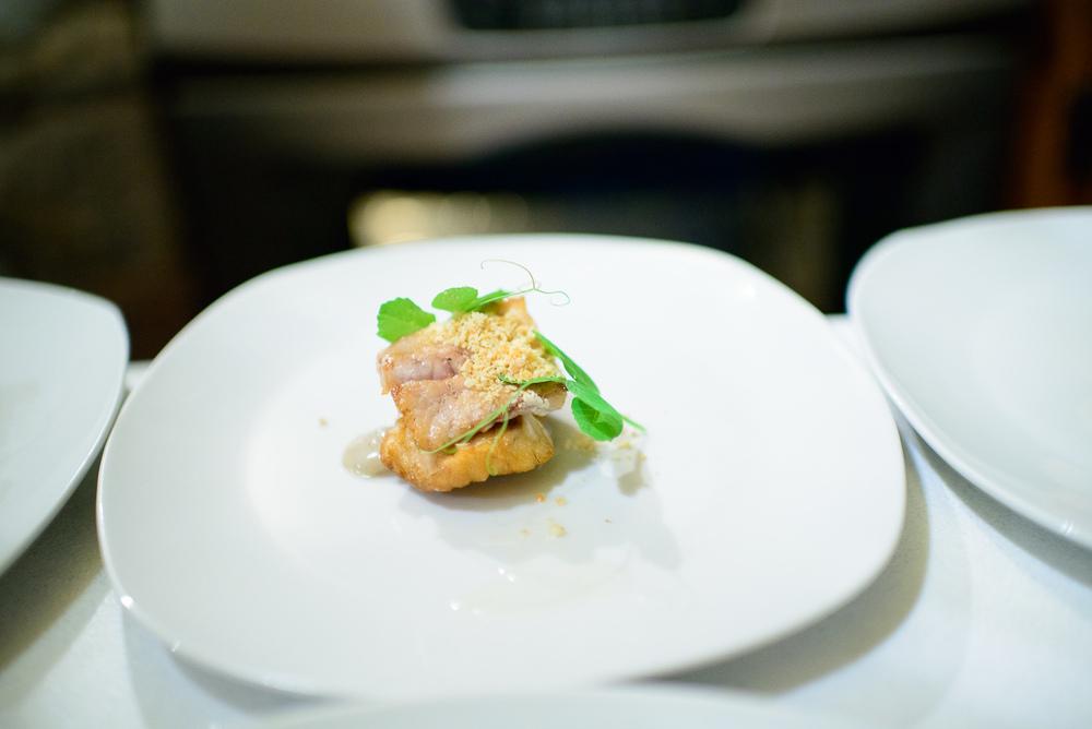 2nd Course: Huachinango, chícharo, y crema de amaranto