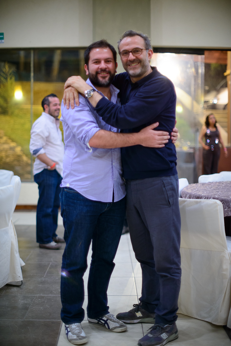 Chefs Enrique Olvera (Pujol, Mexico City) and Massimo Bottura (O