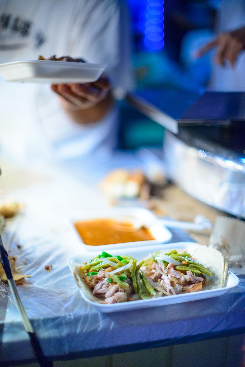 Tacos de carnitas con nopal