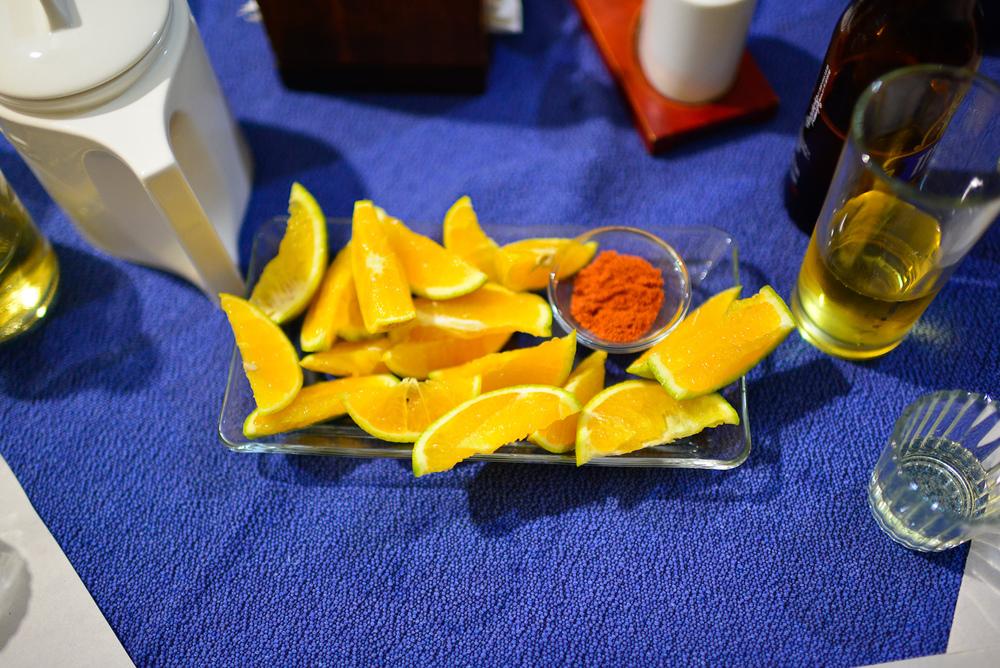 Naranja y chile