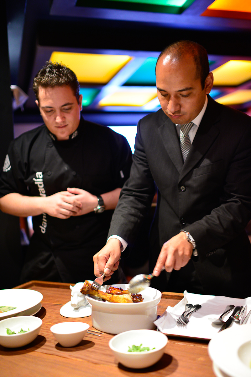 Chef Danial Ovadía and Sommelier Kevin Tapia Morales