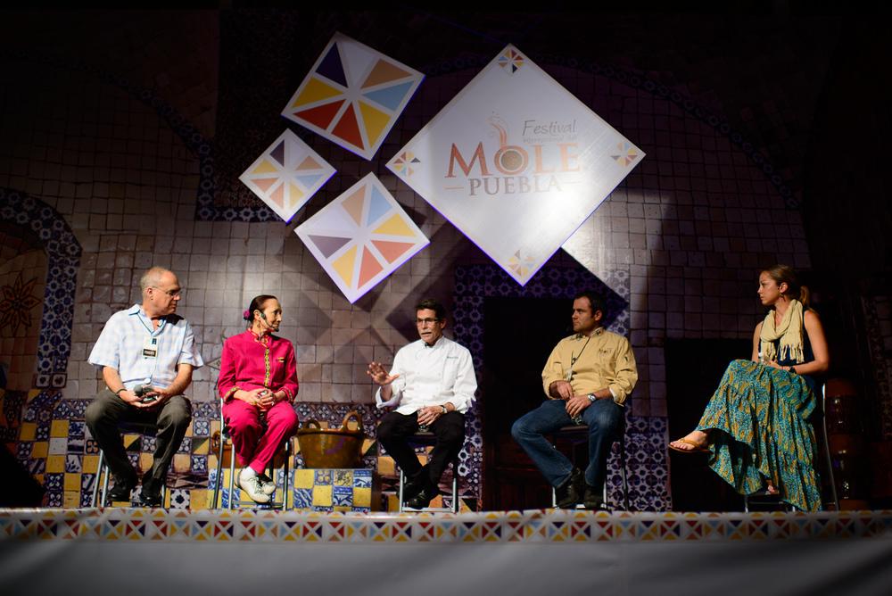 Mark Bittman, Patricia Quintana, Rick Bayless, Carlos Zorilla, a
