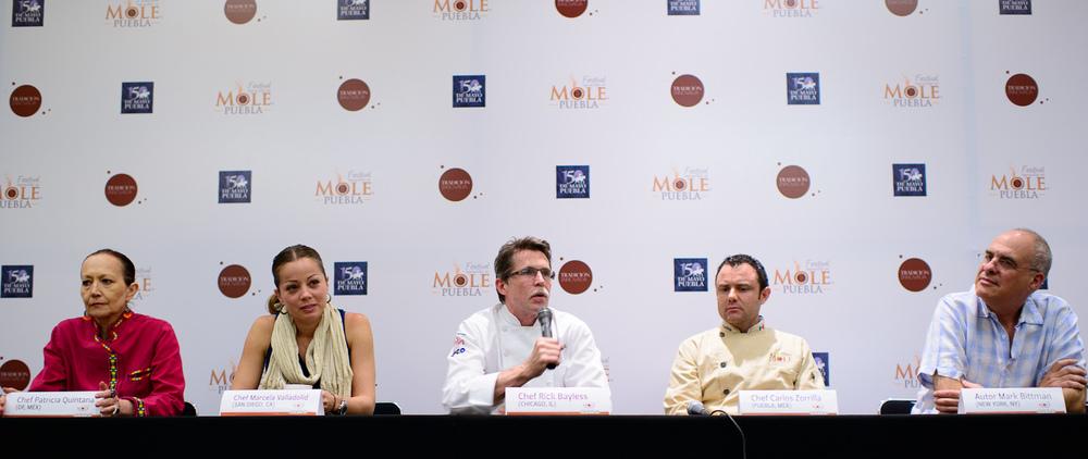 Patricia Quintana, Marcela Valladolid, Rick Bayless, Carlos Zori