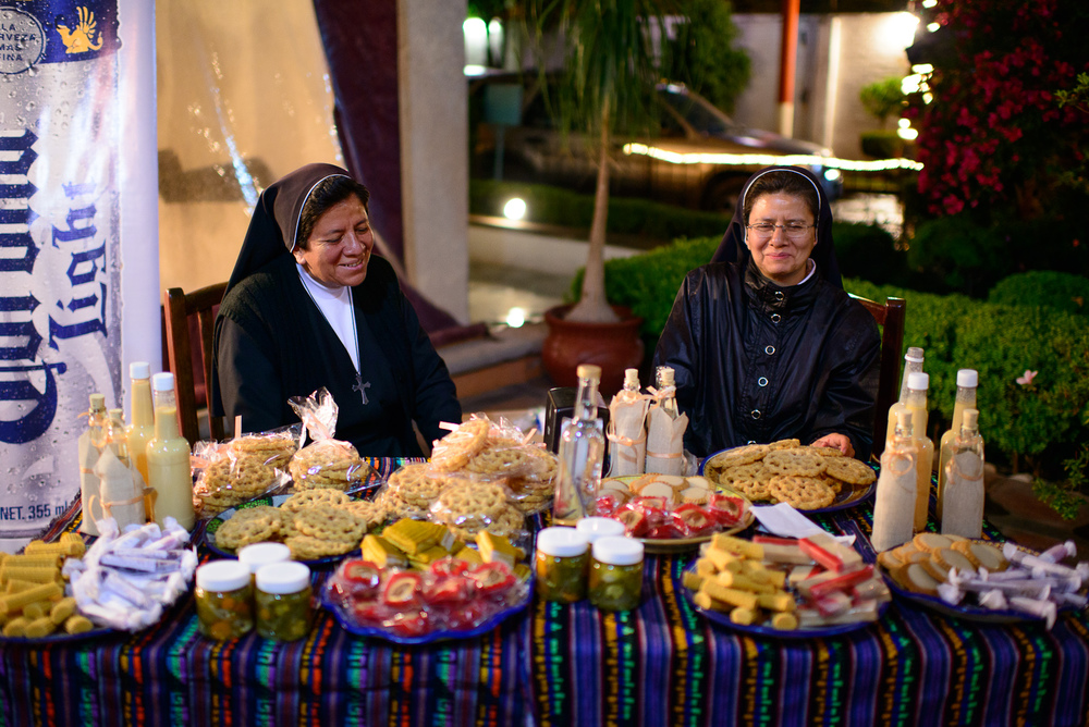 Nuns from Santa Clara make buñelos, rompope, and other dulces
