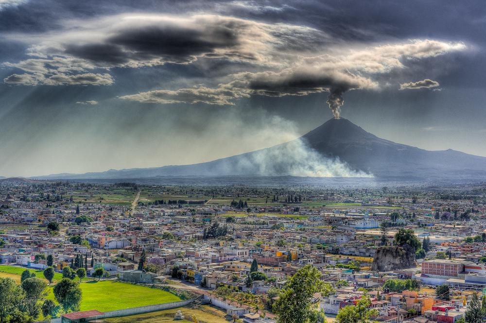 Popocatépetl Volcano, Puebla, México, 2012