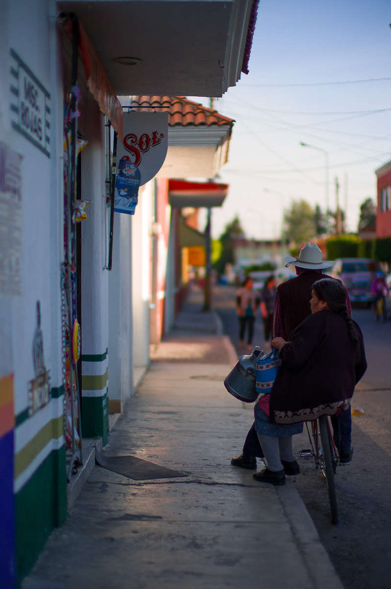Morning milk and groceries, San Andrés Cholula, Puebla
