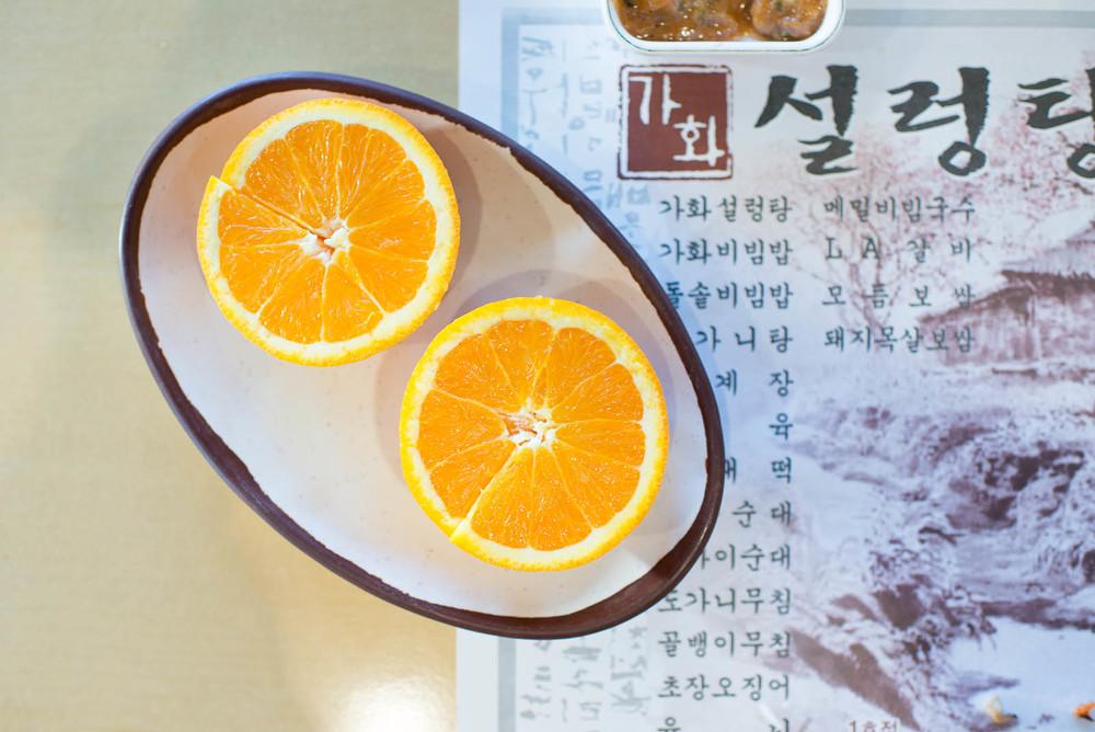 Dessert - an orange
