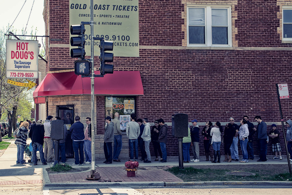 The line for Hot Doug's