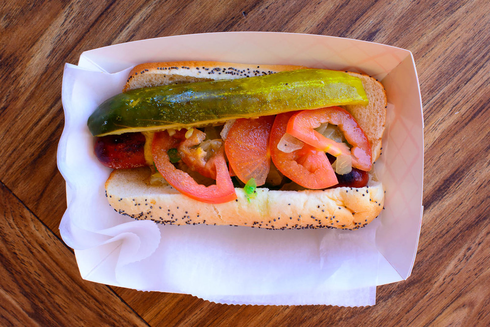 The Dog - Chicago-style hot dog with all the trimmings (mustard,