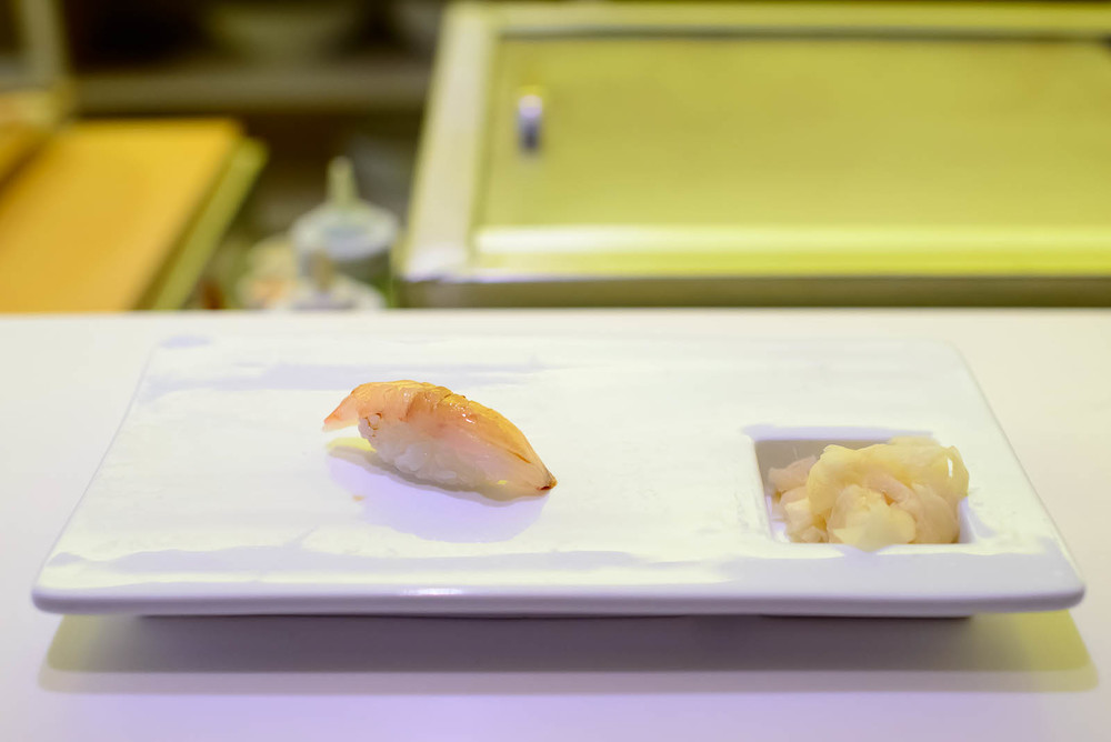 13th Course: Ladder fish with yuzu pepper