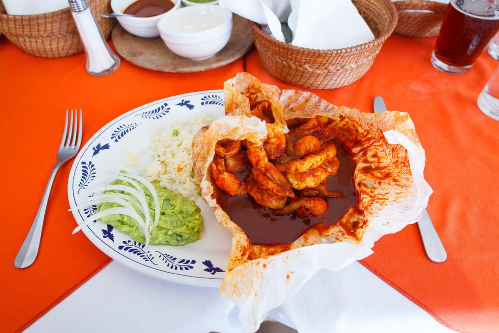 Mixiote de camaron (shrimp)