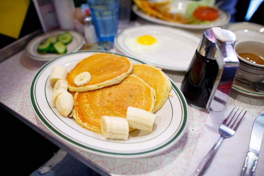 Banana pancakes ($7.40)
