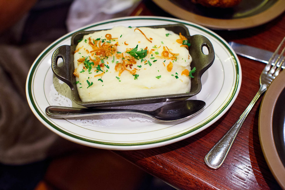 Buttermilk mashed potatoes ($7)