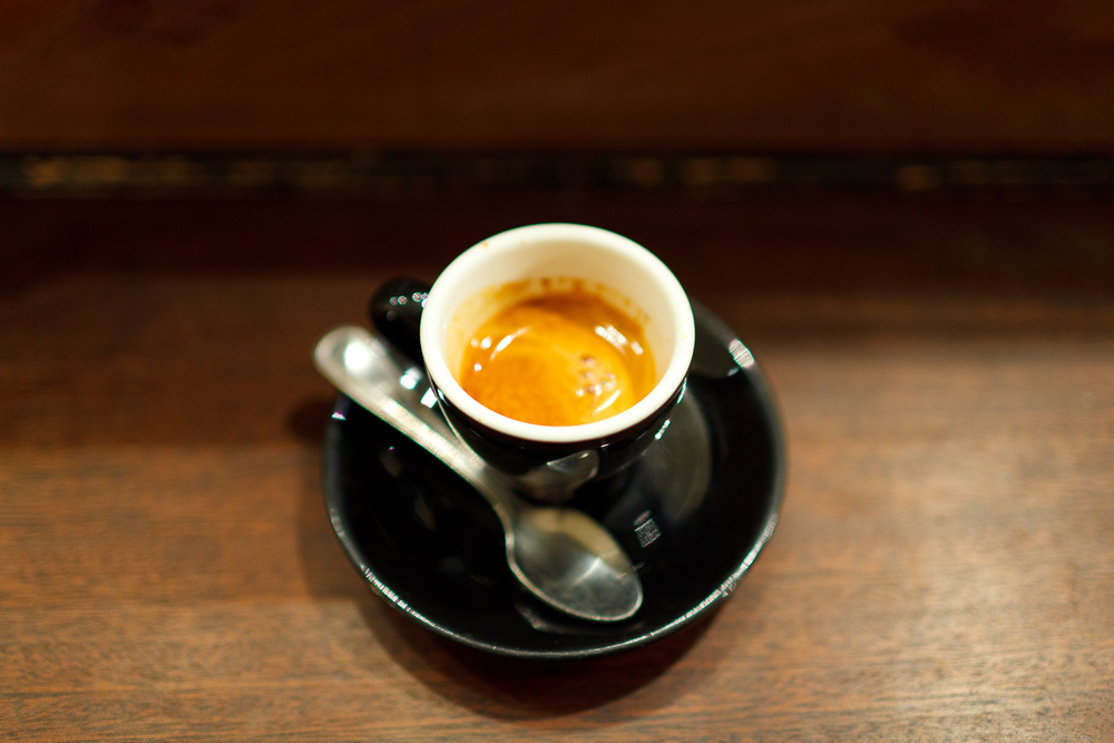 Espresso pulled from Stumptown's Ethiopian Mordecofe