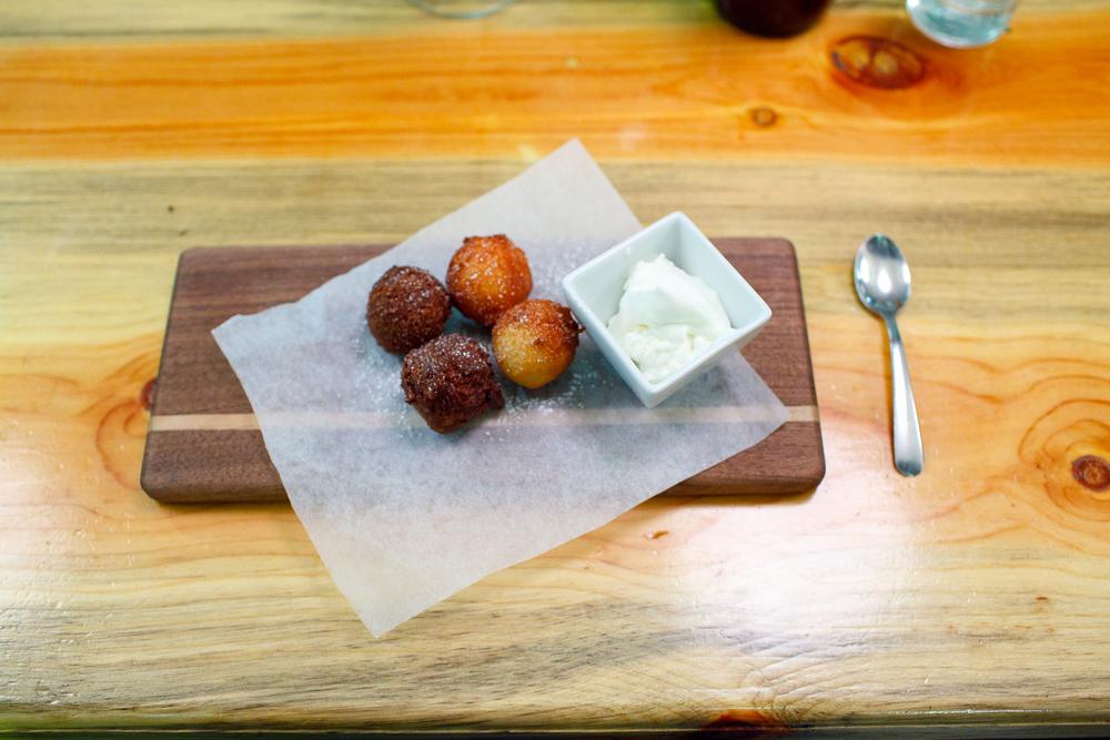 Weiser farm potato & goat's milk ricotta doughnuts ($6)