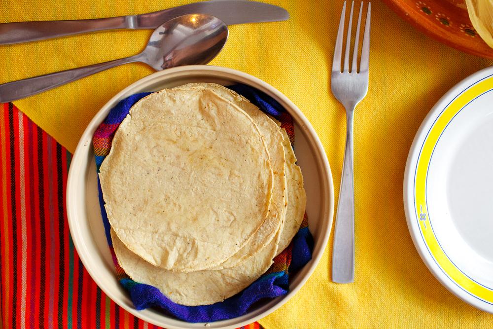 Tortillas recién hechas