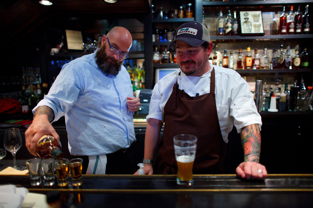A bourbon tour, led by Chef Sean Brock and Roderick Hale Weaver