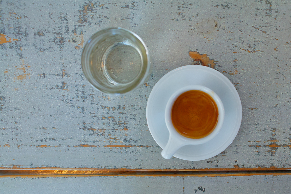Espresso pulled from Stumptown Guatemala beans
