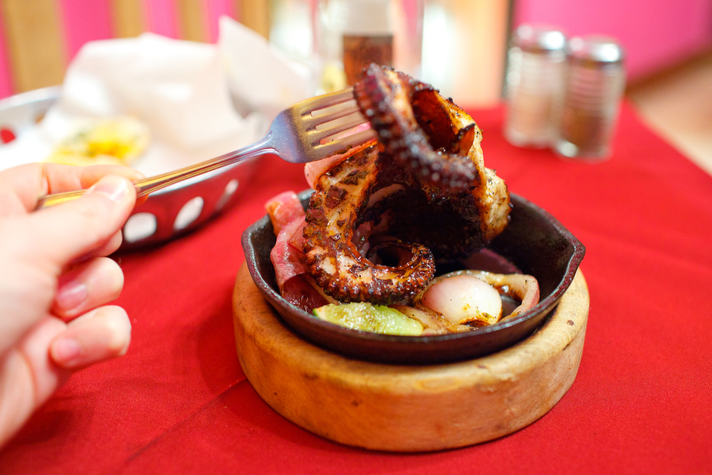 An entire roasted octopus ($150 MXP)