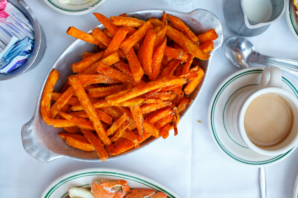 Skinny fried sweet potatoes ($6.95)