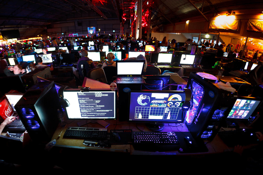 Our setup, DreamHack 2011