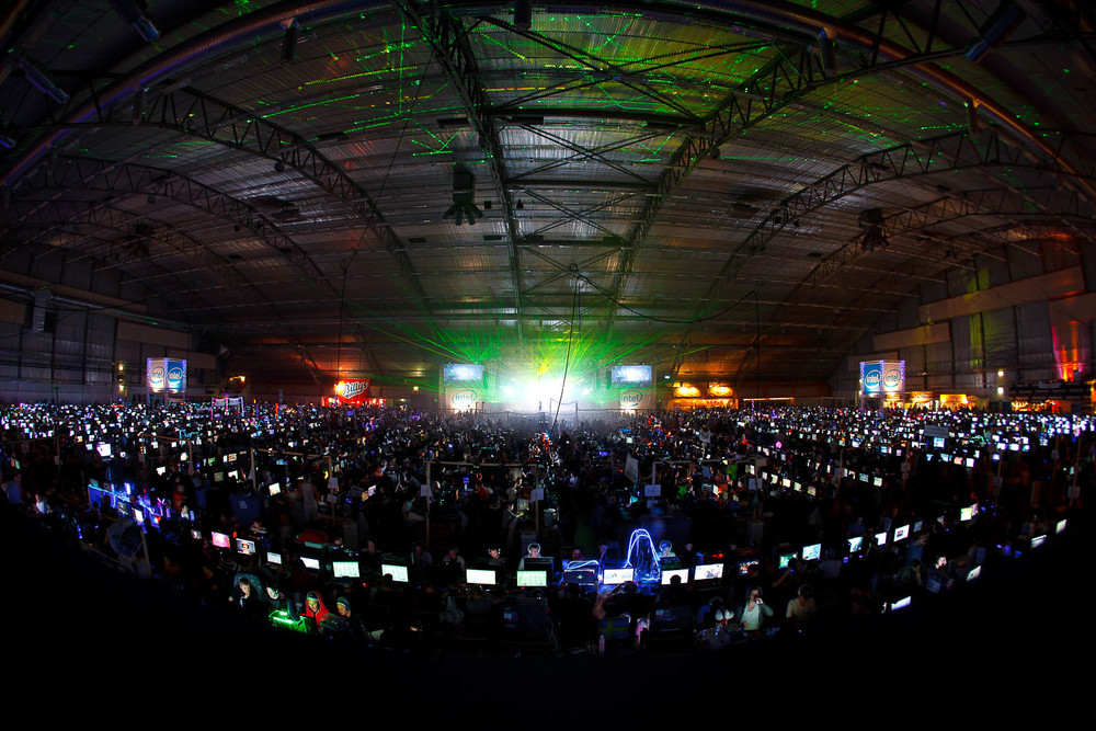 Hall D on the second night, 12,280 computers