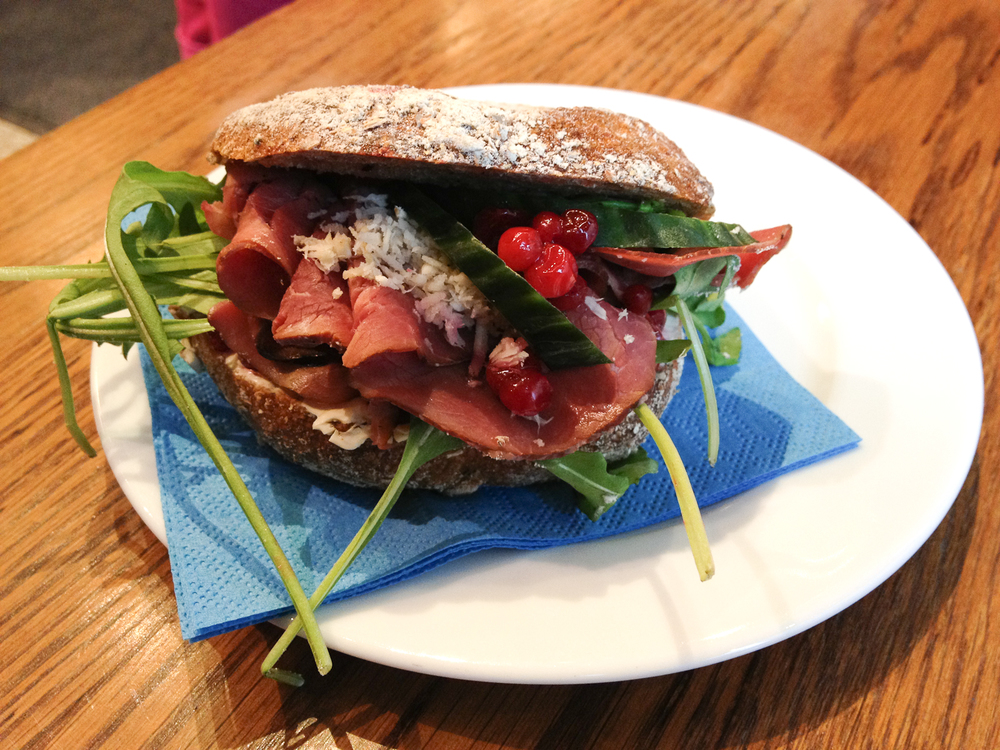 Elk and Lingonberry Sandwich