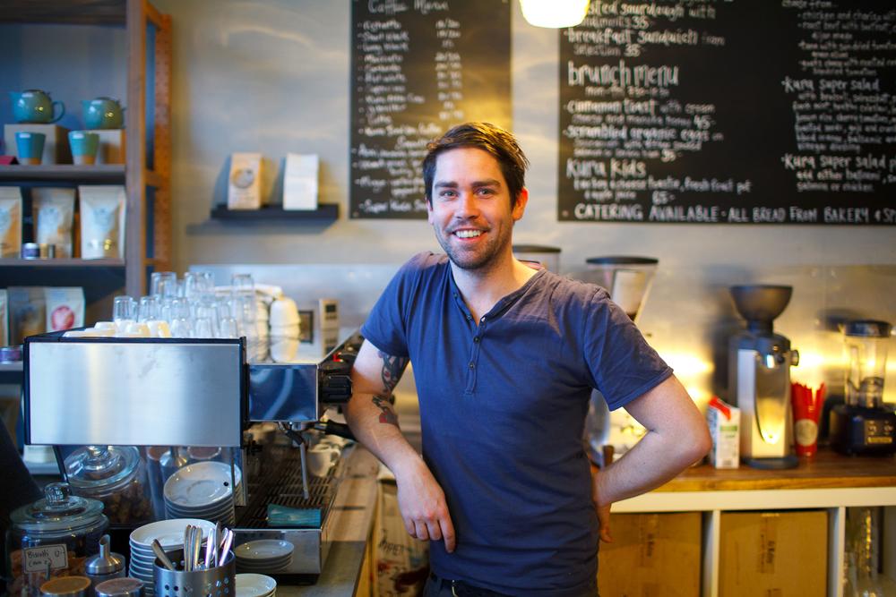 Portrait of barista Cymon Reid