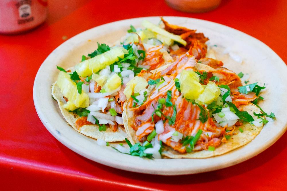 Tacos al Pastor, up close (25MXP)
