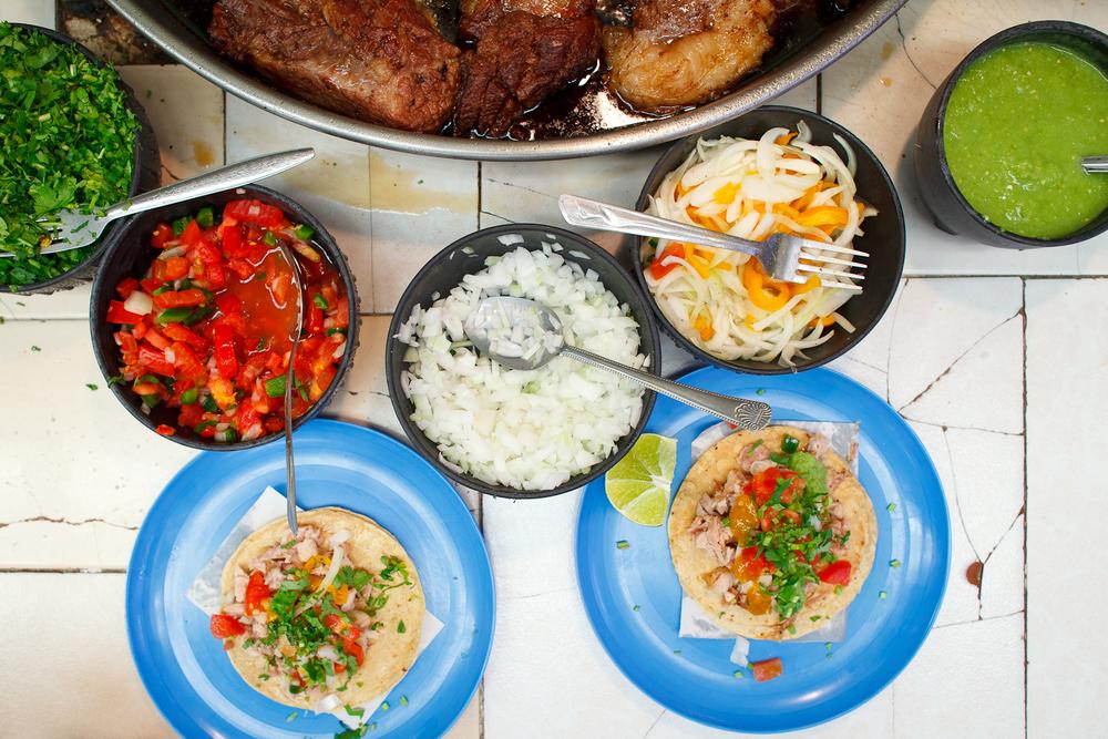 Tacos de Carnitas (20 MXP each)