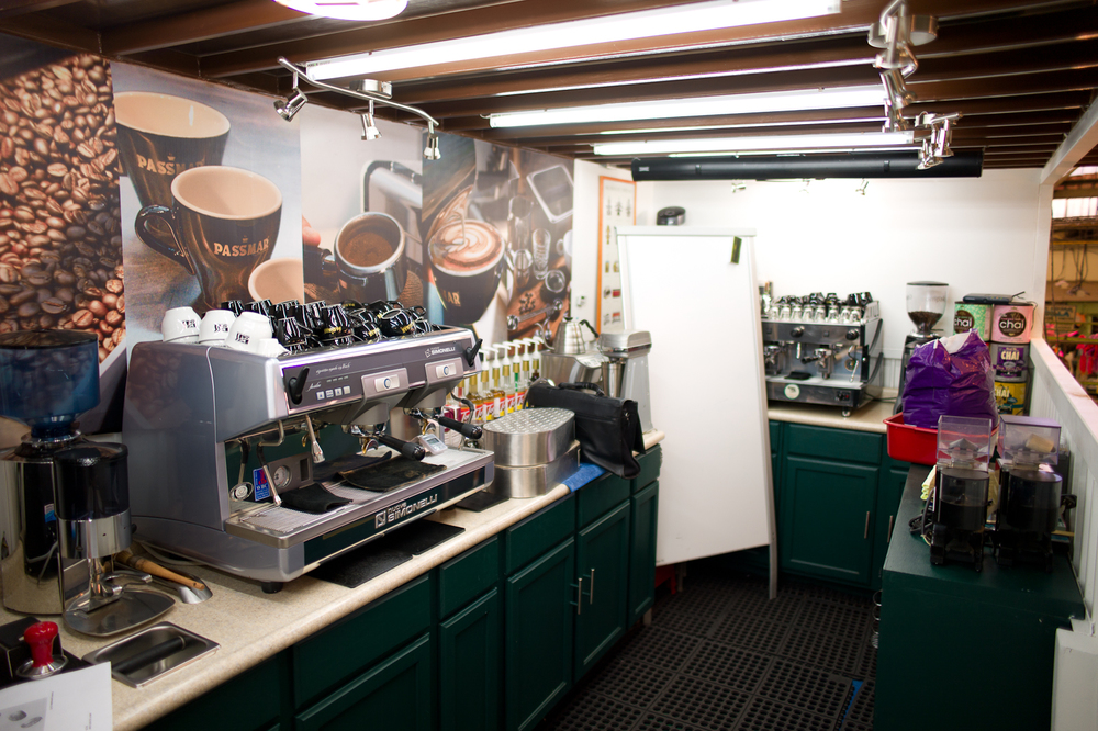 Inside the Coffee lab at Café Passmar
