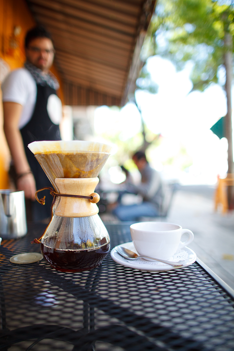 Chemex coffee for 3 (50 MXP)