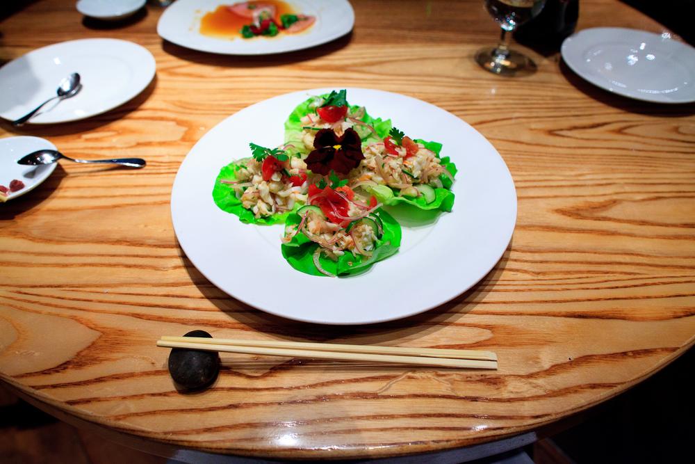 Cevicha de langosta (lobster ceviche) (270 MXP)