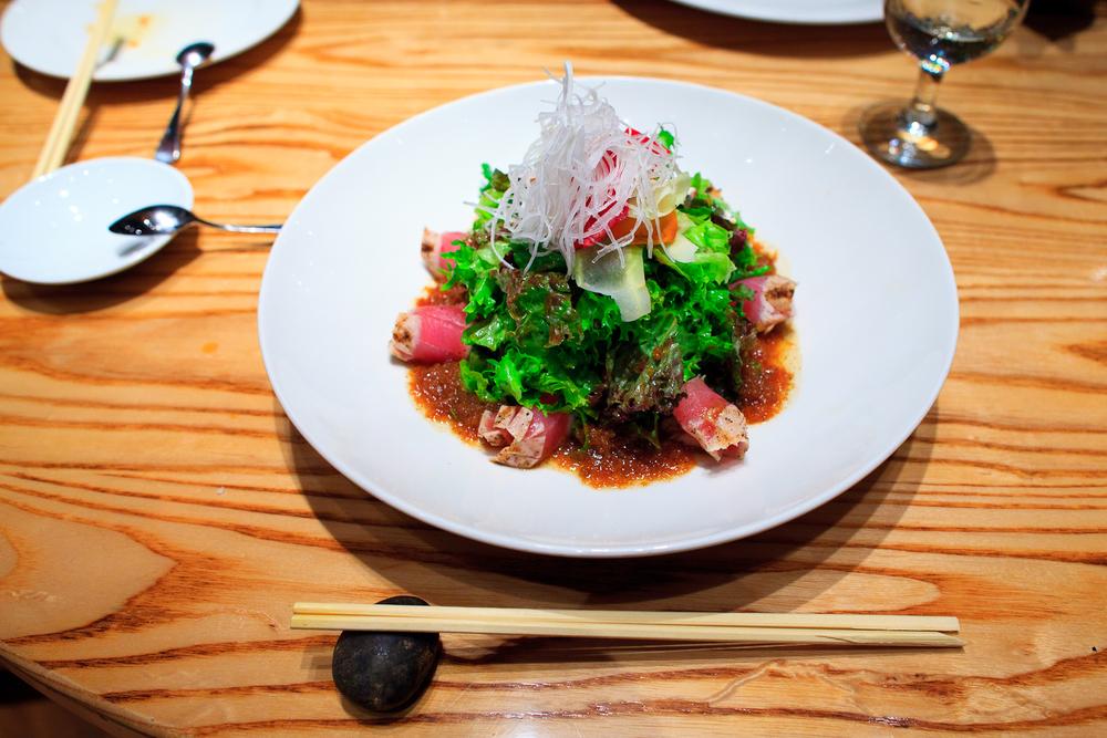 Ensalada Matsuhisa sashimi (Tuna sashimi salad) (270 MXP)