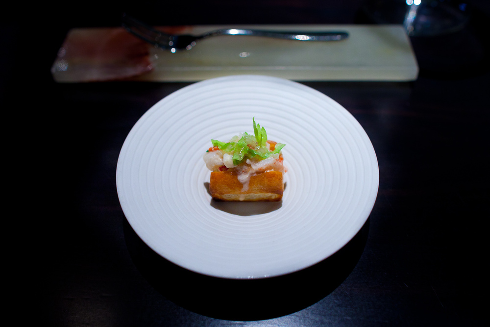 Amuse bouche: Miniature lobster roll