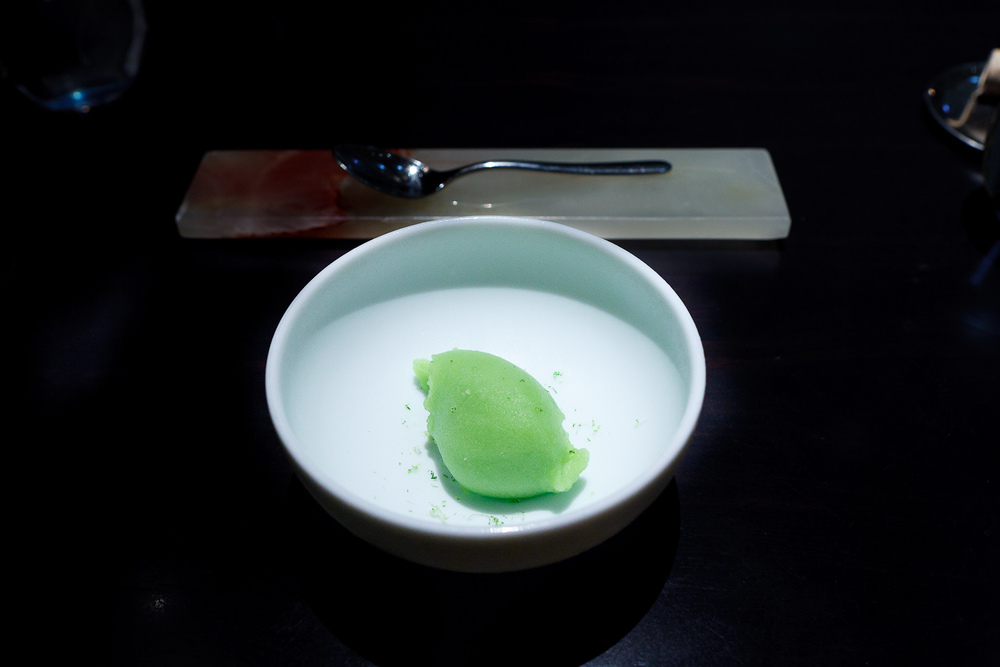 Intermezzo: Cucumber sorbet, lime