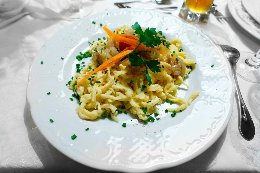 3rd Course: Käsespätzle, swabian cheeese noodles