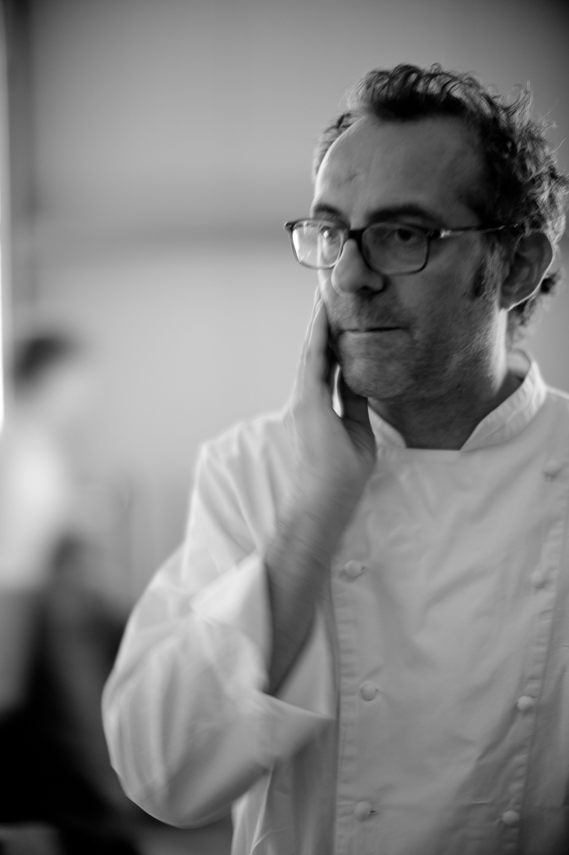 "Portrait of Massimo Bottura. ""As a chef, if you have to ask how much it costs, don't buy it."""