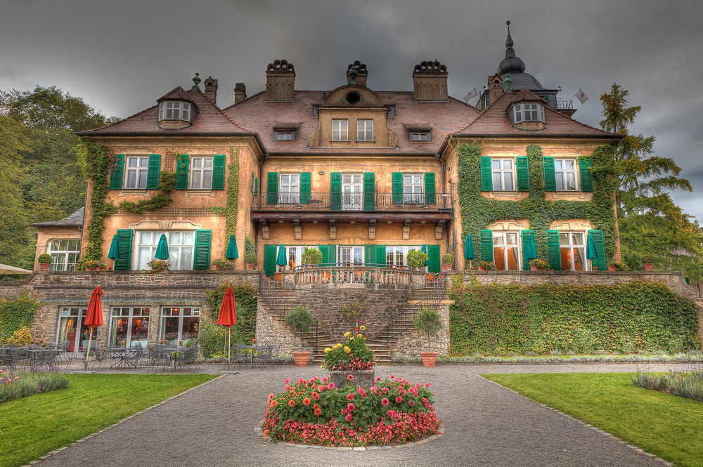 The Schlosshotel Lerbach, Germany at dusk