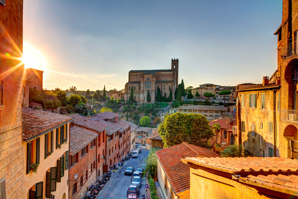 Sunset in Siena