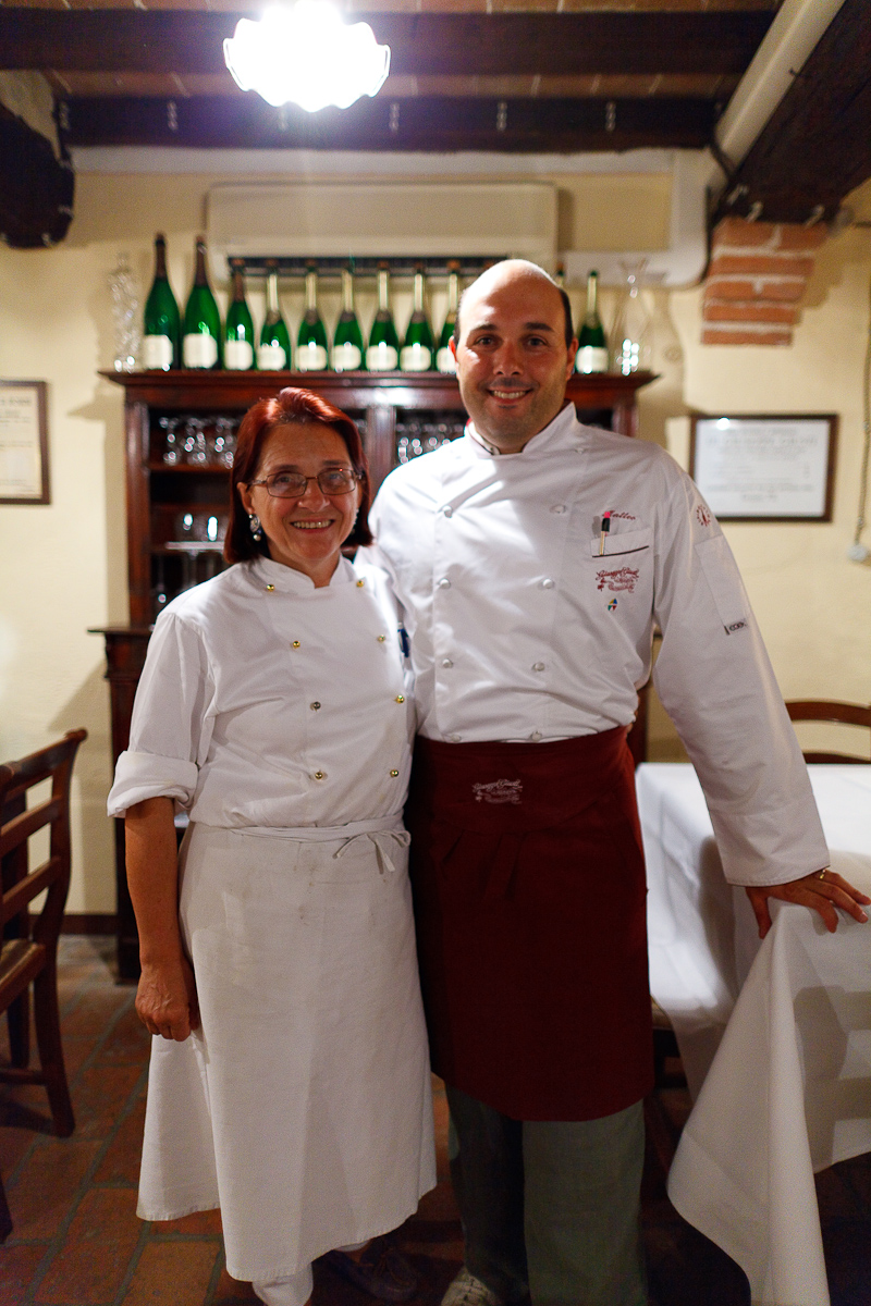 Chef and owner (his mother)