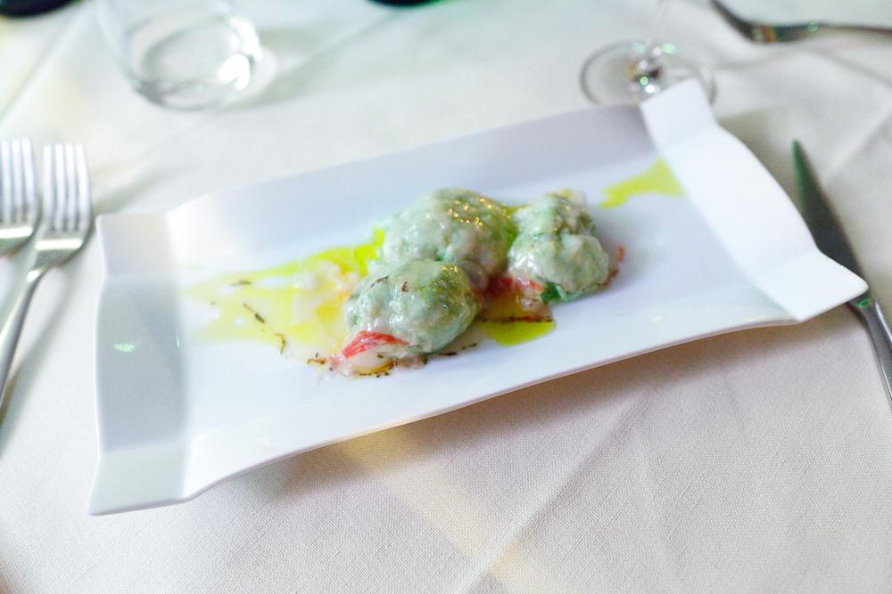 Gnudi con lard di cinta senesce - gnudi without pasta with Colonnata's lard (8€)