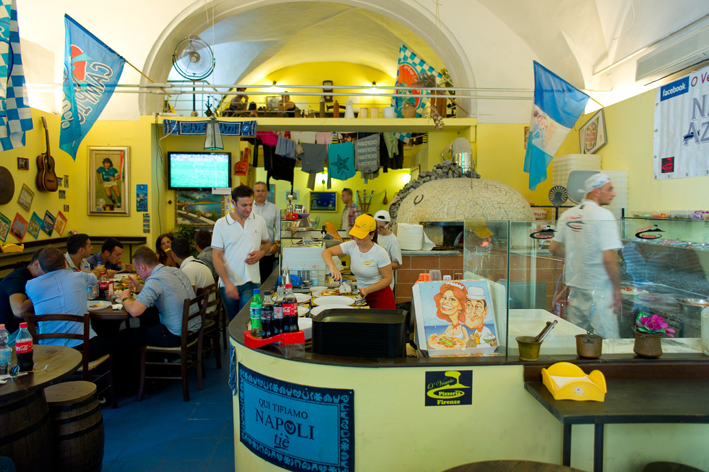 Interior of Pizzeria O'Vesuvio