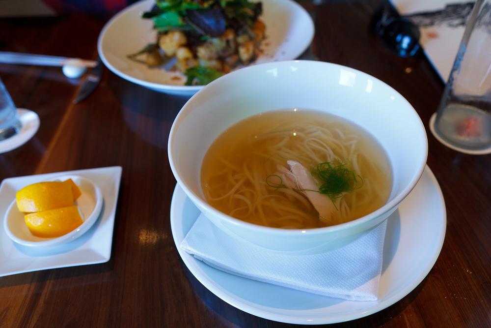 Ramen soup - morimoto chicken noodle soup ($14)